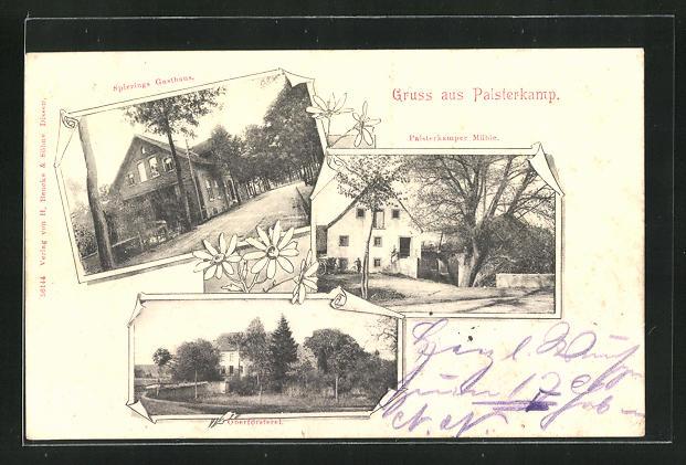 AK Palsterkamp, Spierings Gasthaus, Palsterkamper Mühle, Oberförsterei 0
