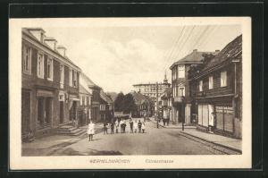 AK Wermelskirchen, Kölner Strasse mit Geschäften und Kindern auf der Strasse