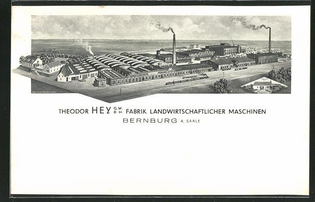 AK Bernburg / Saale, Fabrik Landwirtschaftlicher Maschinen Theodor Hey GmbH 0