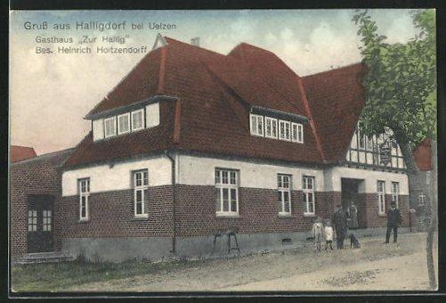 AK Halligdorf, Gasthaus zur Hallig von Heinrich Hoitzendorff 0