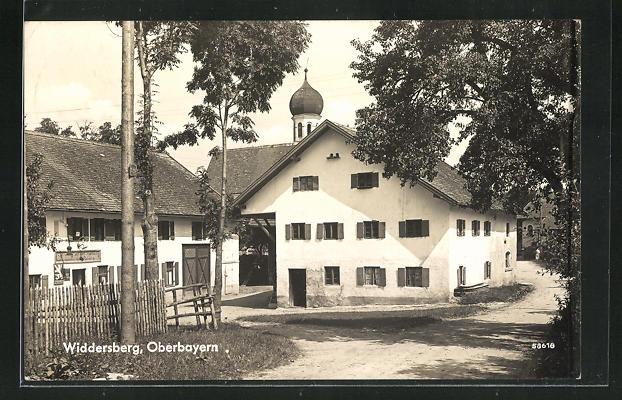 AK Widdersberg / Oberbayern, Blick auf das Gasthaus von Heribert Schreyegg 0