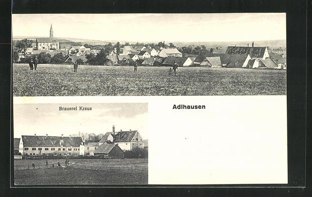 AK Adlhausen, Blick zur Brauerei Kraus, Ortsansicht 0