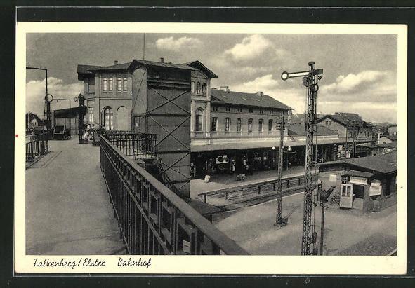 AK Falkenberg / Elster, Ansicht vom Bahnhof 0