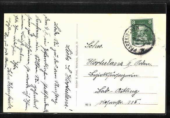 AK Münchham, Handlung von Matthias Angloher, Pfarrhof, Kirche 1