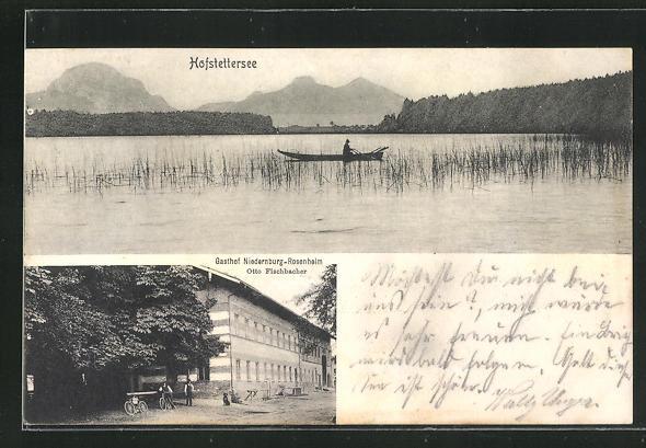 AK Prutting, Ansicht vom Gasthof Niedernburg, Blick über den Hofstettersee 0
