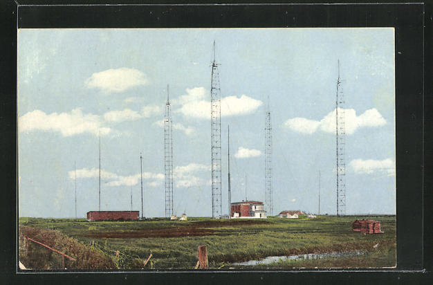 AK Norddeich, Blick zur Funkstation 0