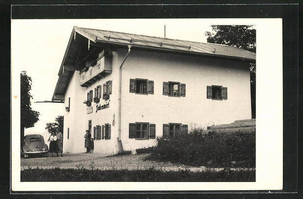 Foto-AK Berchtesgaden-Oberau, Ansicht vom Gasthof Zinkenwirt 0