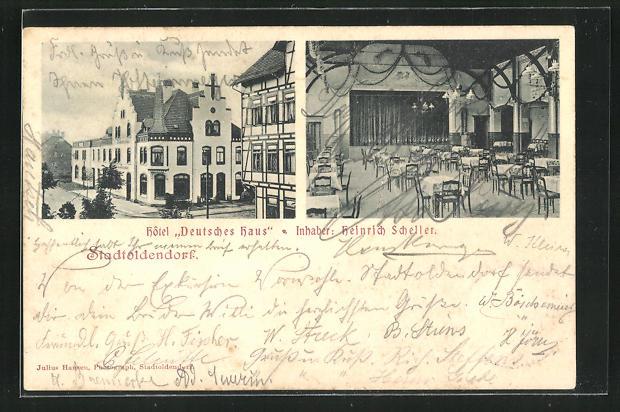 AK Stadtoldendorf, Hotel Deutsches Haus von Heinrich Scheller 0