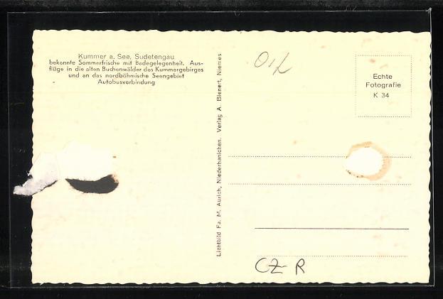 AK Kummer a. See / Sudetengau, Gesamtansicht 1