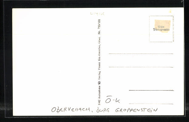 AK Obervellach, Burg Groppenstein 1