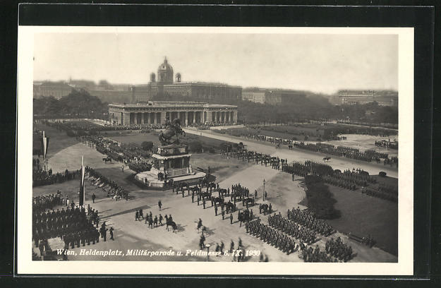 AK Wien, Heldenplatz, Militärparade u. Feldmesse 0