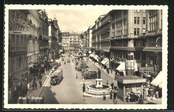 AK Wien, Graben mit Brunnen 0
