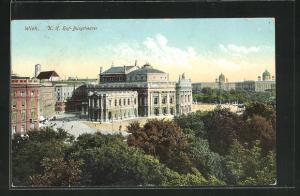 AK Wien, Burgtheater, K. k. Hof-Burgtheater