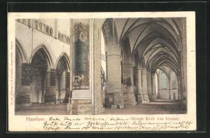 AK Haarlem, Groote Kerk van binnen