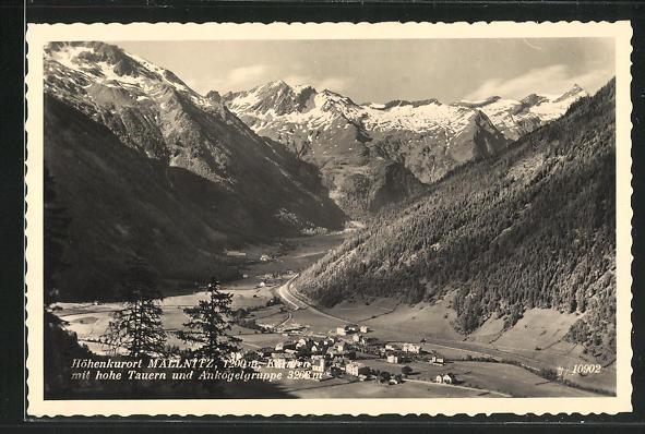 AK Mallnitz, Ortsansicht mit hohe Tauern 0