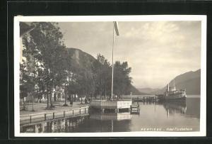 AK Pertisau, Dampfer an der Anlegestelle, Hotel Fürstenhaus