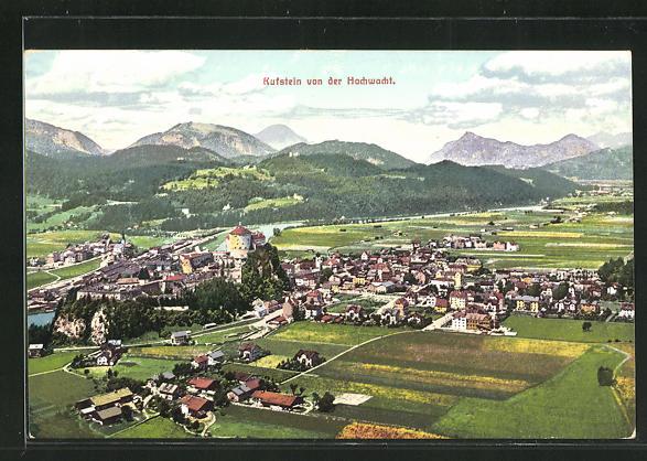 AK Kufstein, Ortsansicht von der Hochwacht aus gesehen 0