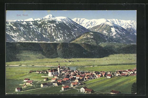 AK Zirl / Tirol, Ortsansicht mit Kirche 0