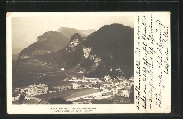 AK Kufstein / Tirol, Ortsansicht mit Kaisergebirge 0