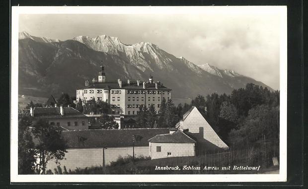 AK Innsbruck, Schloss Amras mit Bettelwurf 0