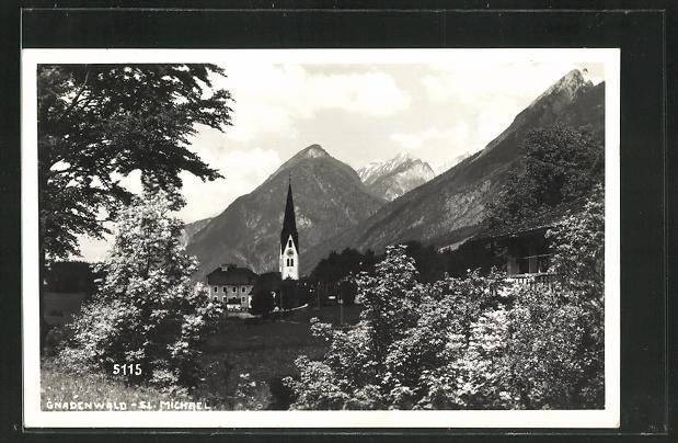 AK Gnadenwald / Tirol, Blick zur Kirche St. Michael 0