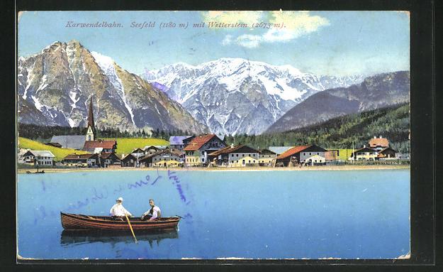 AK Seefeld / Tirol, Ortsansicht mit Wetterstein 0