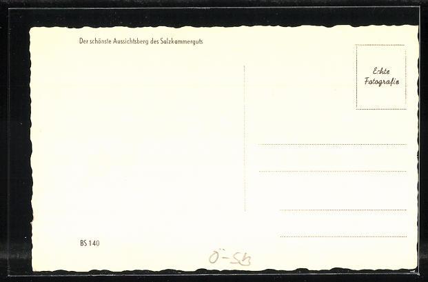AK Schafberggipfel, Blick zum Attersee 1