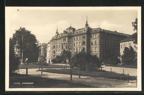 AK Graz, Blick zum Justizpalast 0