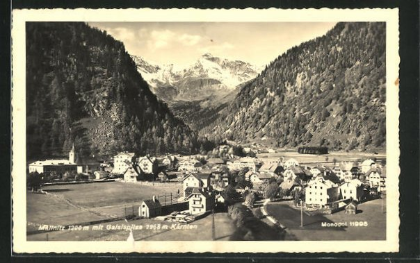 AK Mallnitz, Ortsansicht mit Gaislspitze 0
