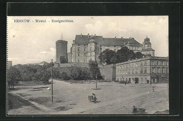 AK Krakau-Krakow, Blick zum Königsschloss 0