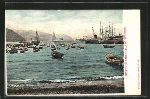 AK Puerto de Santa Cruz de Tenerife, Boote im Hafen
