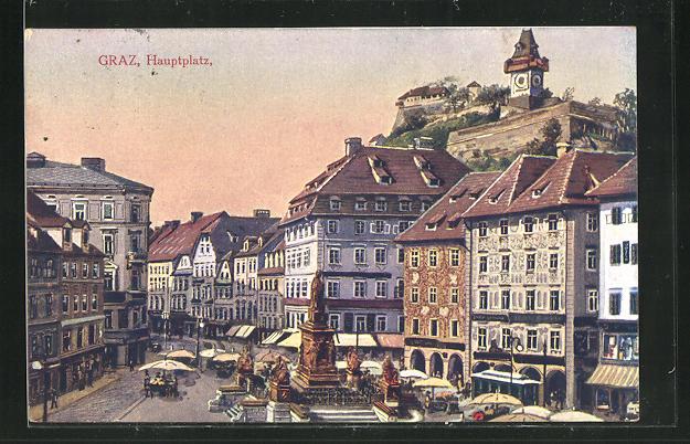 AK Graz, Partie am Hauptplatz 0