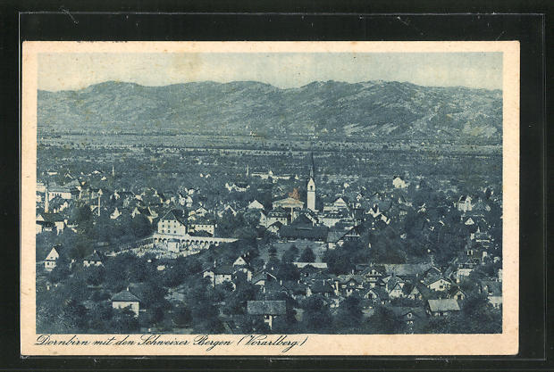AK Dornbirn, Ortsansicht mit Kirche 0