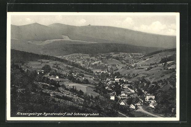 AK Agnetendorf, Ortsansicht mit Schneegruben 0