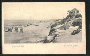 AK Horst / Ostseebad, Strand und Bad