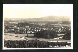 AK Hirschberg / Riesengebirge, Ortsansicht
