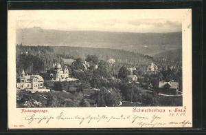 AK Schreiberhau im Riesengebirge, Teilansicht von Süden