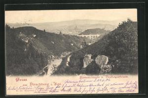 AK Hirschberg, Sattlerschlucht v. Trafalgarfelsen