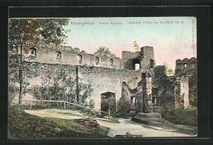 AK Kynast im Riesengebirge, Ruine, Oestliche Partie im Burghof