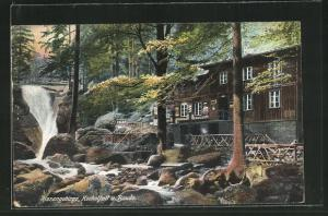 AK Riesengebirge, Kochelfall und Baude
