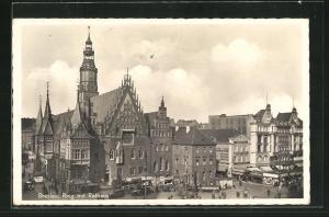 AK Breslau, Ring mit Rathaus