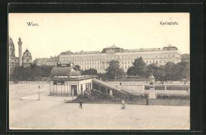 AK Wien, Karlsplatz mit Denkmal