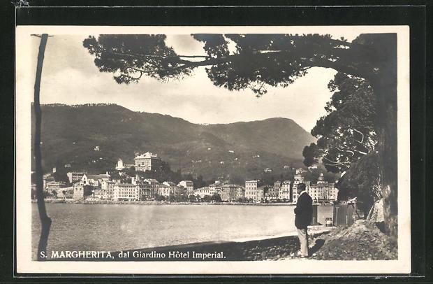 AK S. Margherita, Panorama dal Giardino, Hotel Imperial 0