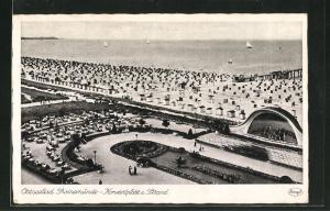AK Swinemünde, Konzertplatz und Strand