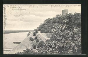 AK Graudenz / Grudziadz, Blick auf die Südseite des Schlossberges