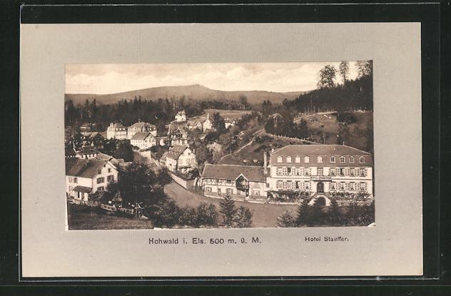 AK Hohwald i. Els., Blick zum Hotel Stauffer 0