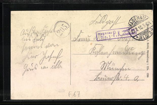 AK Hagenau, Schlachthaus mit Rechenmühle 1
