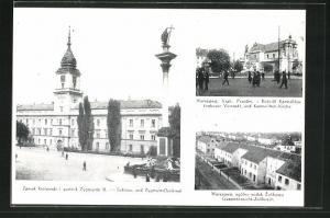 AK Warschau-Warszawa, Schloss & Zygmunt-Denkmal, Karmelittenkirche, Gesamtansicht-Zolibosch