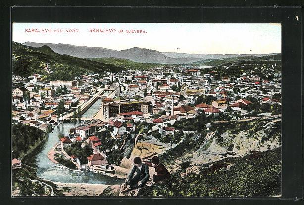 AK Sarajewo, Teilansicht von Norden 0