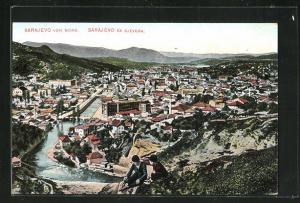 AK Sarajewo, Teilansicht von Norden